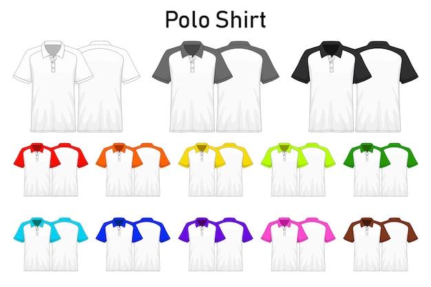 Polo shirt colors on the collar collection set
