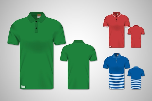 Polo shirt front and back set