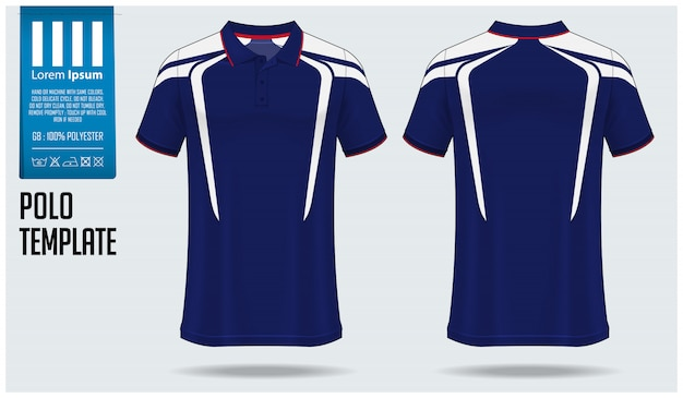 Polo shirt mockup design.