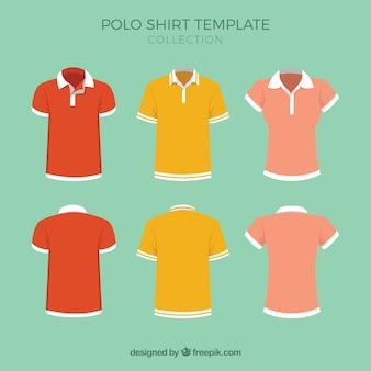 Polo shirt template collection