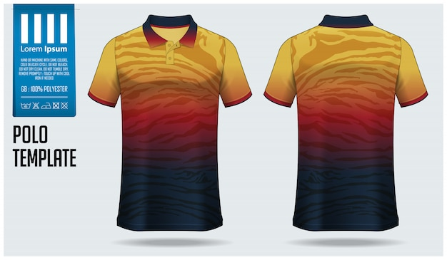 Polo shirt  template design.