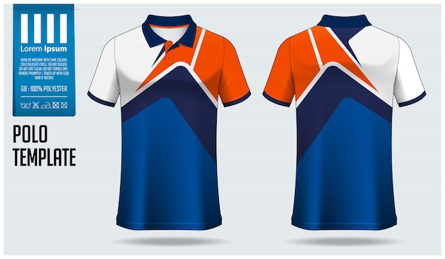 Polo shirt  template .