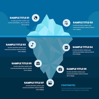 폴리 빙산 인포 그래픽