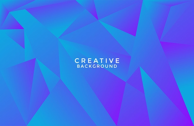 Poly triangle modern trendy blue color  background