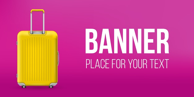 Polycarbonate travel plastic suitcase banner