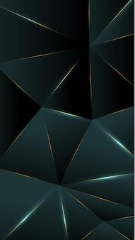 ポリゴン、抽象的な青灰色、黒のグラデーションの壁紙の背景ベクトル図