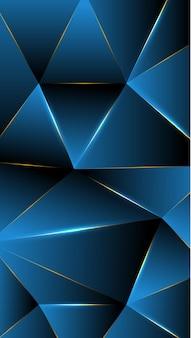 ポリゴン、抽象的な青い洞窟、黒のグラデーションの壁紙の背景ベクトル図