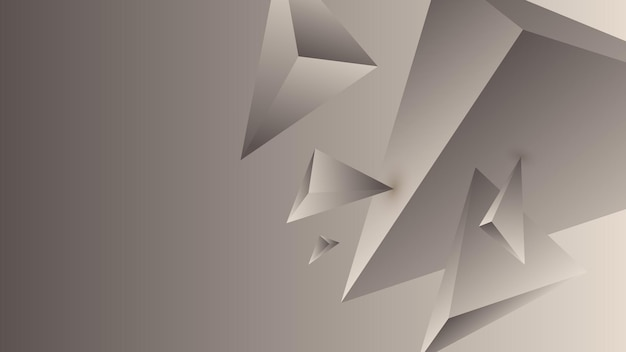Многоугольник, абстрактный серый, слоновая кость градиент обои фон векторные иллюстрации