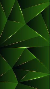 Многоугольник, абстрактный зеленый, черный градиент обои фон векторные иллюстрации