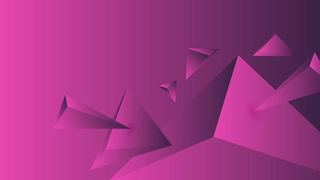 Многоугольник, абстрактный розовый, фиолетовый градиент обои фон векторные иллюстрации