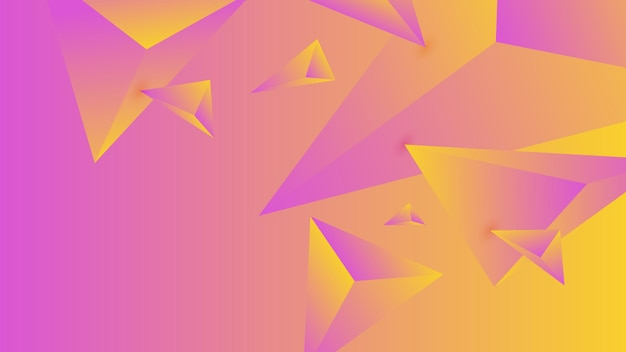 Polygon, abstract pink, yellow gradient wallpaper background vector illustration