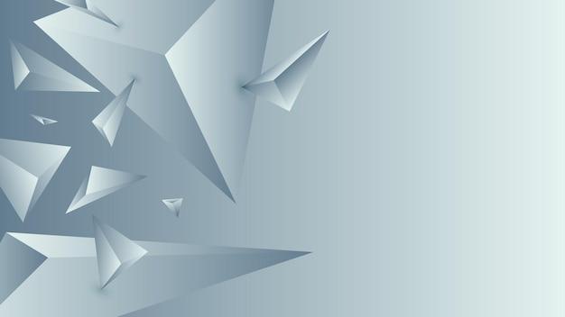 Многоугольник, абстрактный сланец, голубой градиент обои фон векторные иллюстрации.