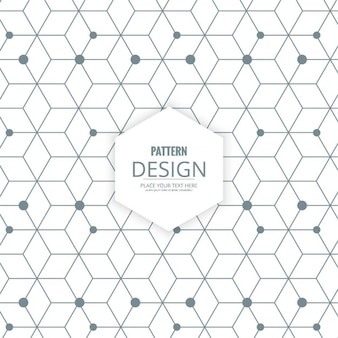 Polygon background with hexagons, lines and dots