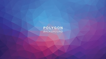 Polygon blue purple light