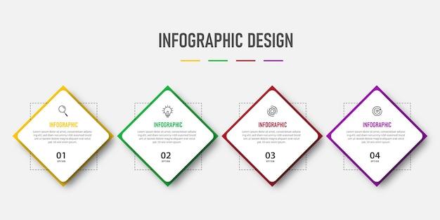 Polygon design infographic steps