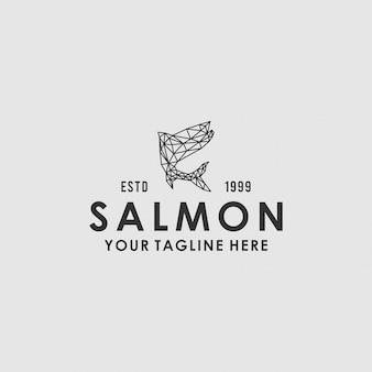 Polygon geometric salmonのロゴ