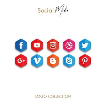 Polygon Icon Of Popular Social Media