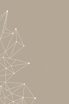Шаблон многоугольника на коричневом фоне социальных