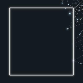 어두운 배경 사각형 사회 템플릿에 패턴화된 다각형