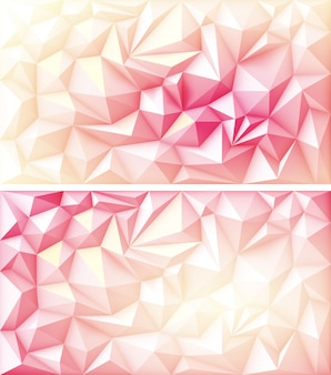 Polygon polygonal geometric triangle multicolored red pink yellow ruby backgrounds