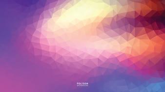Polygon Purple Bright