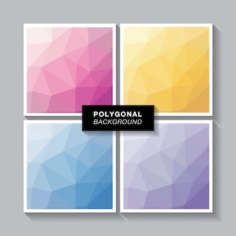 Polygon set 4 sweet colors