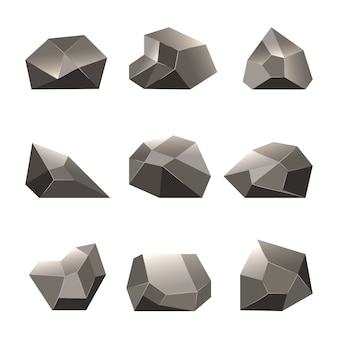 Polygon stone or poly rocks set