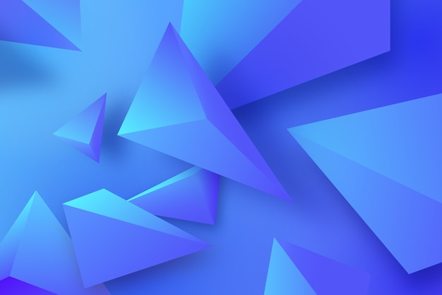 Polygonal 3d background in blue tones