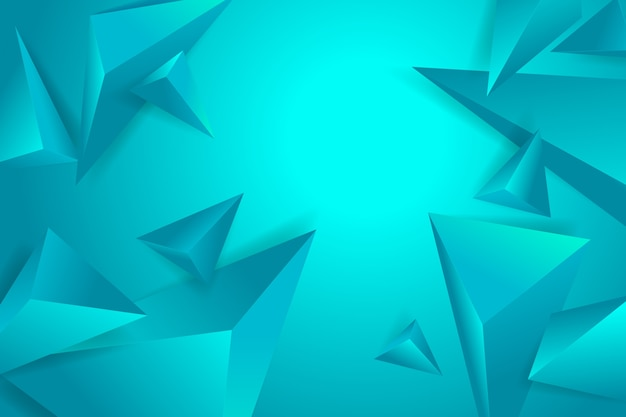 Polygonal 3d background with blue monochome tones