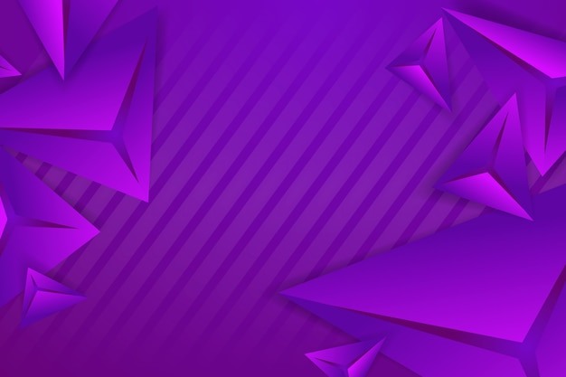 Polygonal 3d background with violet monochome tones