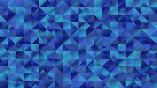 Polygonal abstract blue triangle mosaic  website background