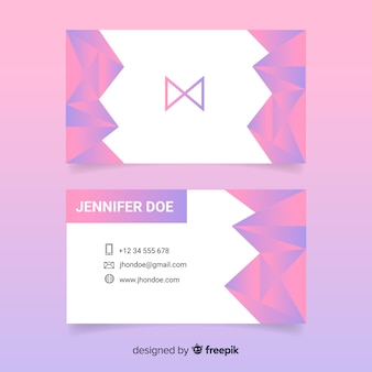 Полигональные абстрактный шаблон визитной карточки