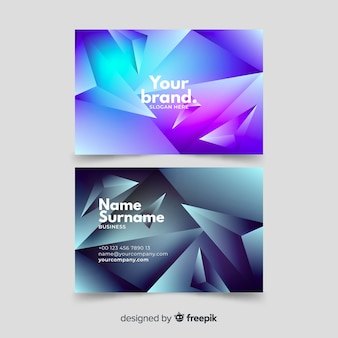 Polygonal abstract business card template