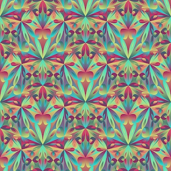Polygonal abstract mosaic floral pattern background