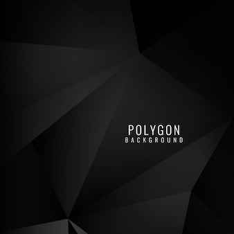 Polygonal background, black color