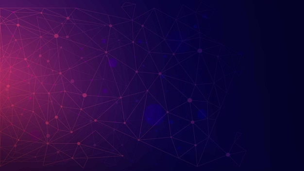 Polygonal background blue and purple color