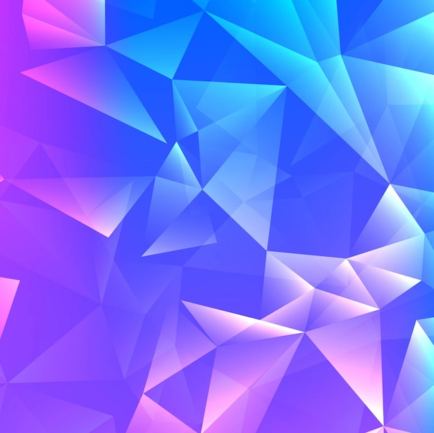 Polygonal background in blue and purple tones