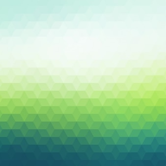 Polygonal background in dark and light green tones