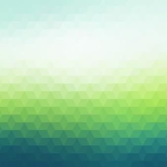 Sfondo poligonale in toni verde scuro e la luce