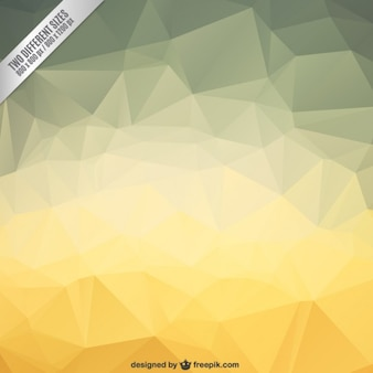 Polygonal background in yellow tones