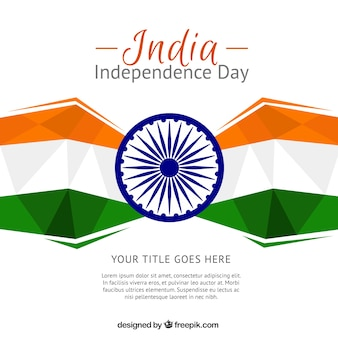 Polygonal background of india independence