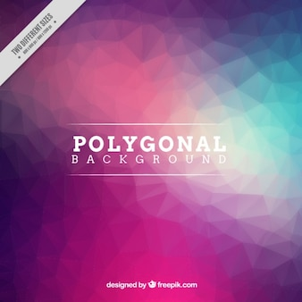 Polygonal background in low poly style