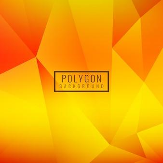 Ярко-желтый многоугольной дизайн фона