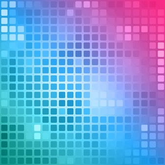 Polygonal background in pink and blue tones with squares