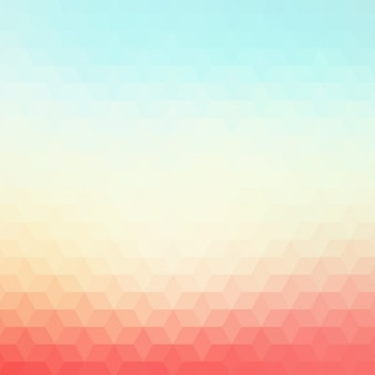 Polygonal background in red and blue tones