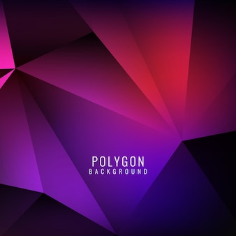 Polygonal background, red and purple