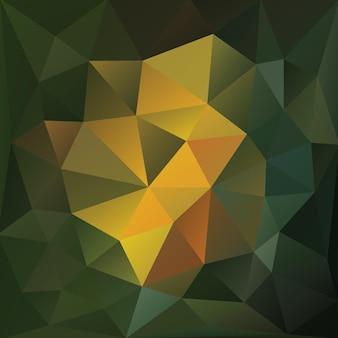 라임 골드와 미묘한 녹색 효과가있는 다각형 배경