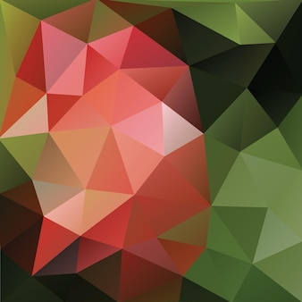 Polygonal background with olive shades and peachy pink