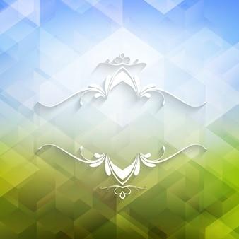 幾何学的なデザインの装飾的な背景