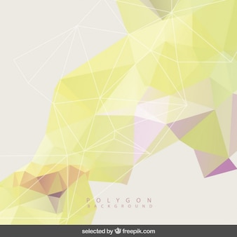Polygonal background in yellow tones